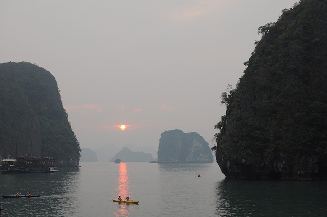 Ha Long Bay - sunset